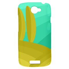 Green and yellow landscape HTC One S Hardshell Case
