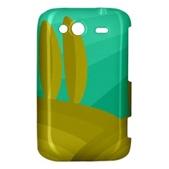 Green and yellow landscape HTC Wildfire S A510e Hardshell Case
