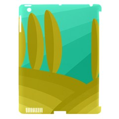 Green and yellow landscape Apple iPad 3/4 Hardshell Case (Compatible with Smart Cover)