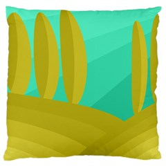 Green and yellow landscape Large Cushion Case (One Side)