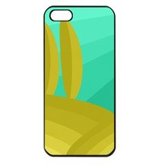 Green and yellow landscape Apple iPhone 5 Seamless Case (Black)