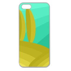 Green and yellow landscape Apple Seamless iPhone 5 Case (Clear)