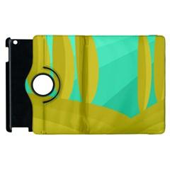 Green and yellow landscape Apple iPad 3/4 Flip 360 Case