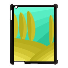Green and yellow landscape Apple iPad 3/4 Case (Black)
