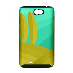 Green and yellow landscape Samsung Galaxy Note 2 Hardshell Case (PC+Silicone)