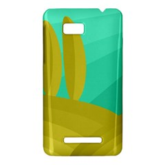 Green and yellow landscape HTC One SU T528W Hardshell Case