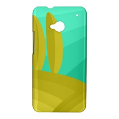 Green and yellow landscape HTC One M7 Hardshell Case