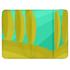 Green and yellow landscape Samsung Galaxy Tab 7  P1000 Flip Case