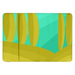 Green and yellow landscape Samsung Galaxy Tab 8.9  P7300 Flip Case