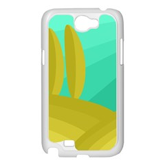 Green and yellow landscape Samsung Galaxy Note 2 Case (White)