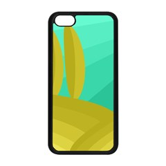 Green and yellow landscape Apple iPhone 5C Seamless Case (Black)