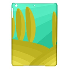 Green and yellow landscape iPad Air Hardshell Cases
