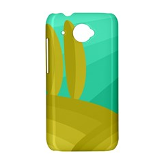 Green and yellow landscape HTC Desire 601 Hardshell Case