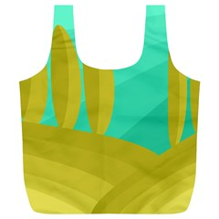 Green and yellow landscape Full Print Recycle Bags (L)