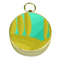 Green and yellow landscape Gold Compasses
