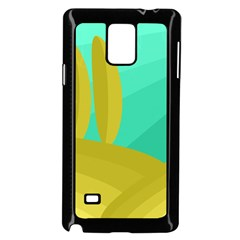 Green and yellow landscape Samsung Galaxy Note 4 Case (Black)