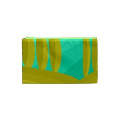 Green and yellow landscape Cosmetic Bag (XS)