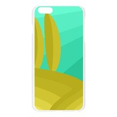 Green and yellow landscape Apple Seamless iPhone 6 Plus/6S Plus Case (Transparent)