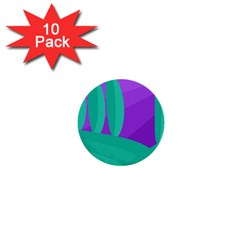 Purple and green landscape 1  Mini Buttons (10 pack)