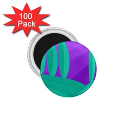 Purple and green landscape 1.75  Magnets (100 pack)