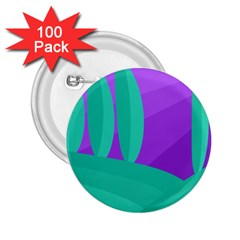 Purple and green landscape 2.25  Buttons (100 pack)