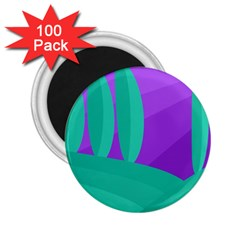 Purple and green landscape 2.25  Magnets (100 pack)