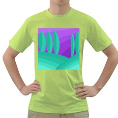 Purple and green landscape Green T-Shirt