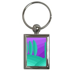 Purple and green landscape Key Chains (Rectangle)
