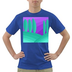 Purple and green landscape Dark T-Shirt