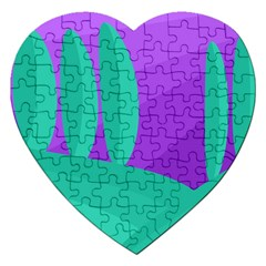 Purple and green landscape Jigsaw Puzzle (Heart)