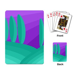Purple and green landscape Playing Card