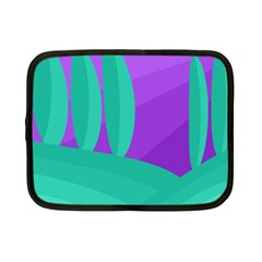 Purple and green landscape Netbook Case (Small)