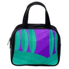 Purple and green landscape Classic Handbags (One Side)