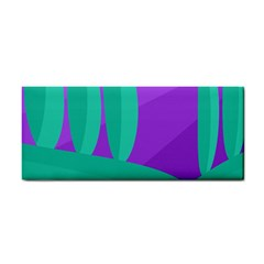 Purple and green landscape Hand Towel