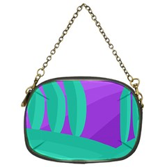 Purple and green landscape Chain Purses (One Side)