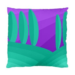 Purple and green landscape Standard Cushion Case (Two Sides)