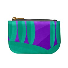 Purple and green landscape Mini Coin Purses