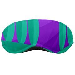 Purple and green landscape Sleeping Masks