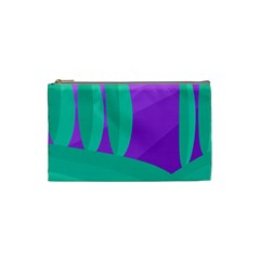 Purple and green landscape Cosmetic Bag (Small)