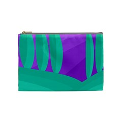 Purple and green landscape Cosmetic Bag (Medium)