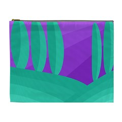 Purple and green landscape Cosmetic Bag (XL)