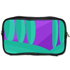 Purple and green landscape Toiletries Bags
