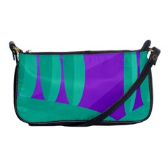 Purple and green landscape Shoulder Clutch Bags
