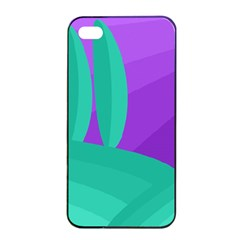 Purple and green landscape Apple iPhone 4/4s Seamless Case (Black)