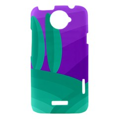 Purple and green landscape HTC One X Hardshell Case
