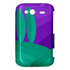 Purple and green landscape HTC Wildfire S A510e Hardshell Case