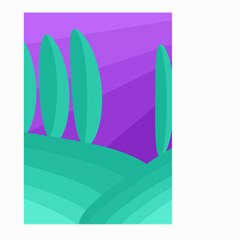 Purple and green landscape Large Garden Flag (Two Sides)