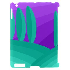 Purple and green landscape Apple iPad 2 Hardshell Case (Compatible with Smart Cover)