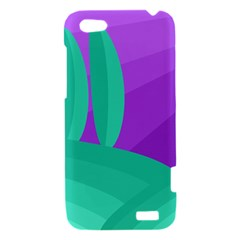 Purple and green landscape HTC One V Hardshell Case