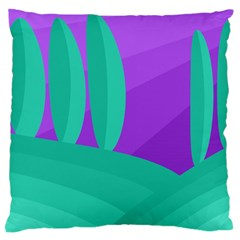 Purple and green landscape Large Cushion Case (Two Sides)